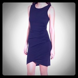 Little black Leith Body-Con Ruched Tank Dress